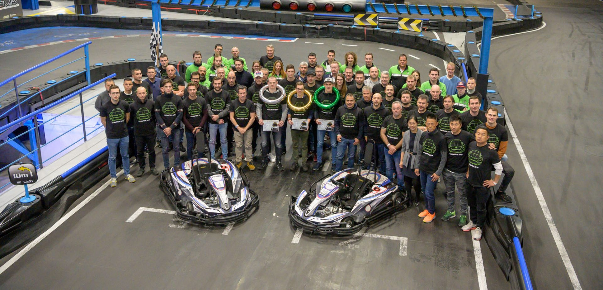 The Battle of Champions: Winners of National Titles Race Go-Karts
