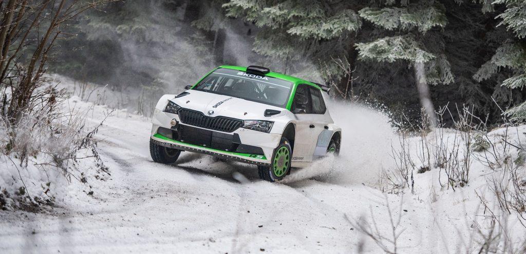 oliver-solberg-testing-a-fabia-rally2-evo-in-czechia-video