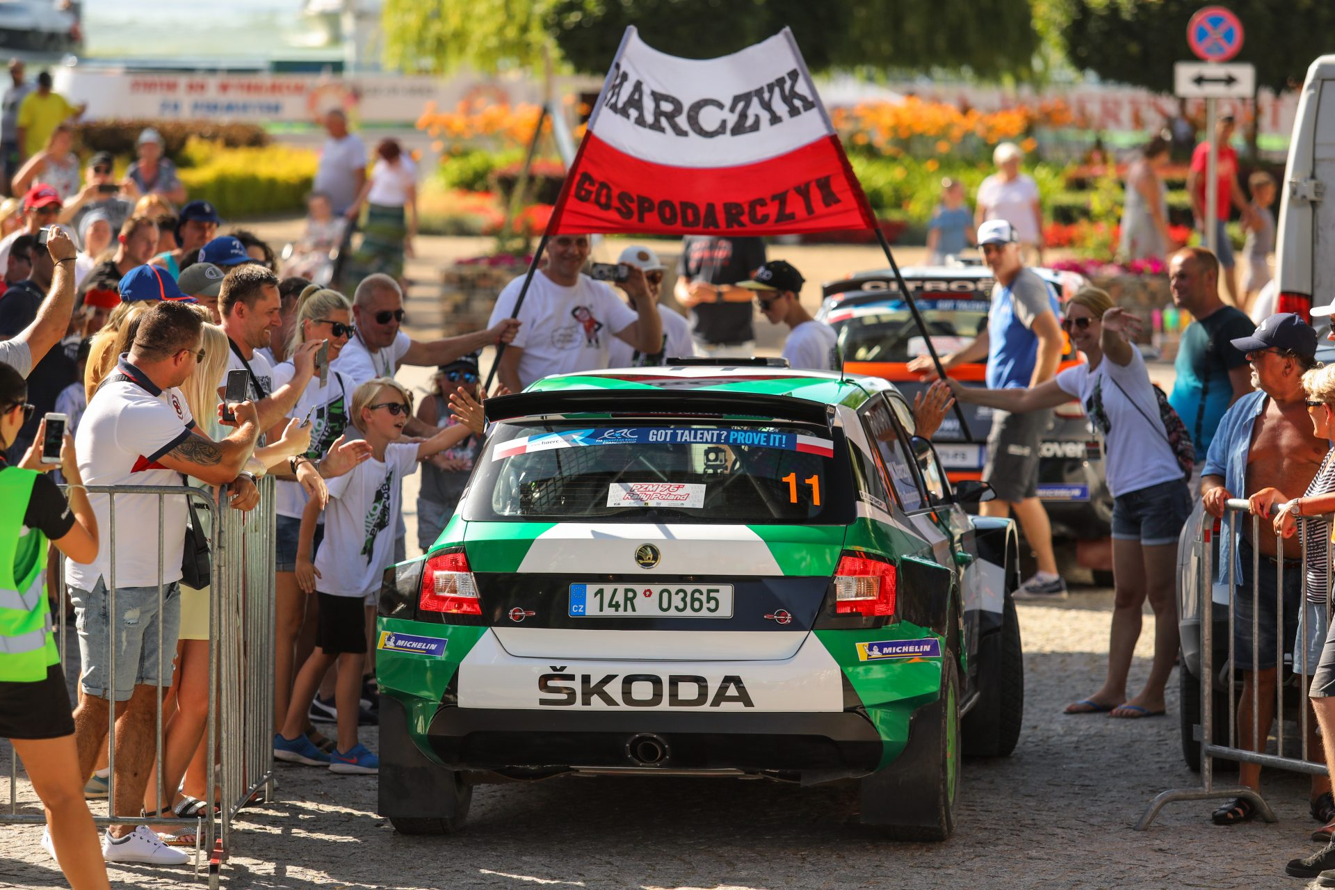 Podium Mistrzostw Europy klasyfikacji juniorskiej dla załogi ŠKODA Polska Motorsport